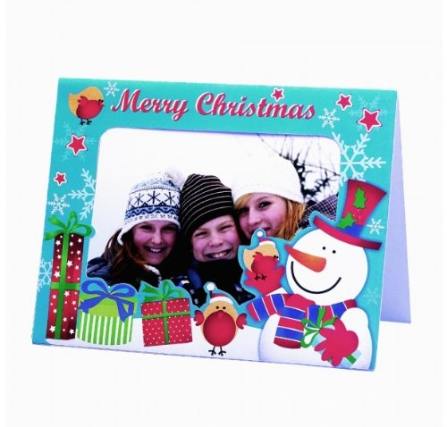 bright ideas 5 photo frame christmas cards with envelopes insert own photograph amazoncouk office products - 4x6 Photo Insert Christmas Cards