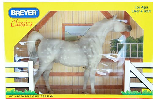 BREYER CLASSICS #630 - DAPPLE GREY ARABIAN HORSE