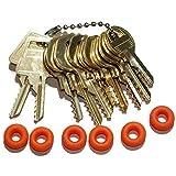 MSPowerstrange Professional Padlock 11 Keys Depth Key Set with Bump Rings