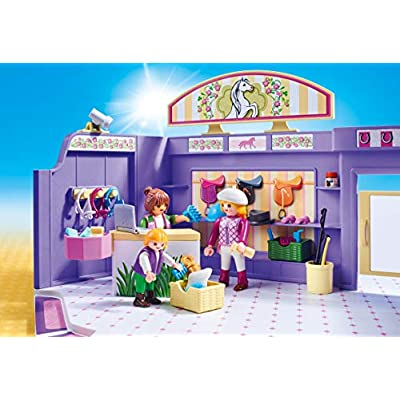 PLAYMOBIL Horse Tack Shop: Toys & Games