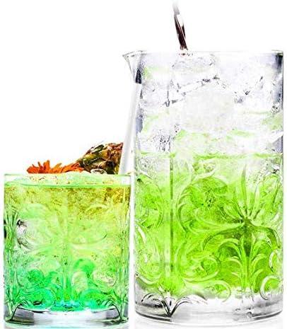 RC2 Corporation RCR cristalería Italiana Tattoo Set Vasos y Mixing Glass de Cristal ecológico, Material 100% reciclable en el Mercado del Cristal.: Amazon.es: Hogar