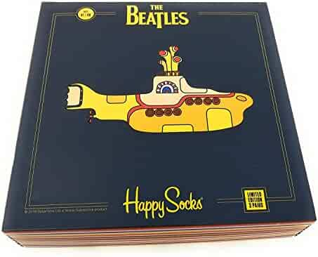 0e5b1c6a0b6 Happy Socks Unisex The Beatles Limited Edition multi-color Submarine EP  Collector s Box (3