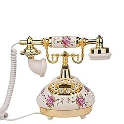 LLP LM Home Retro ceramics Telephone Antique Bluetooth Telephone Fixed telephone Landline
