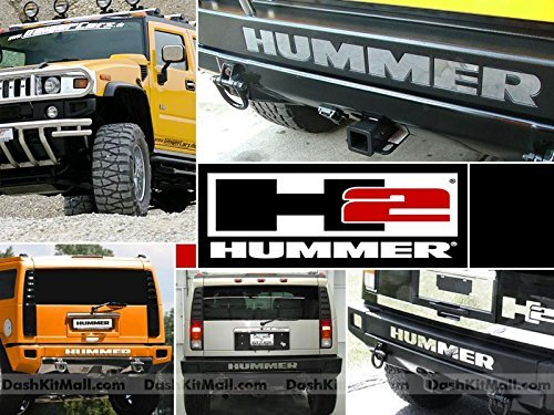 Chrome Rear Bumper Letter Inserts for Hummer H2 Not Decals