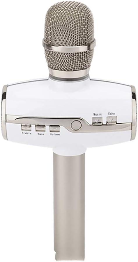 PGODYQ Micrófono móvil K-Speaker portátil inalámbrico Karaoke micrófono de Mano Reproductor Bluetooth Sonido para Cantar y Grabar