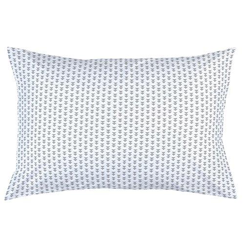Carousel Designs Silver Gray Aztec Arrow Pillow Case - Organic 100% Cotton Pillow Case - Made in The USA