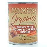 Evangers Organics Turkey with Potato and Carrot Dinner for dogs, 12 Pack, 13-Ounce Cans
