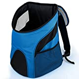 CozyCabin Pet Carrier Backpack, Breathable Mesh Soft-sided Front Pouch Dog Carrier Backpack Pet Shoulder Bag Outdoor Travel up to 6-15 lbs (M fit within 6 lbs, Lake Blue)