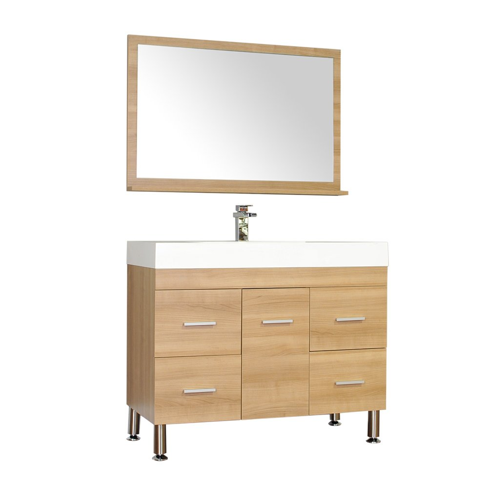 Alya Bath AT-8041-LO-S Ripley Bathroom Vanity Set, 39 , Light Oak