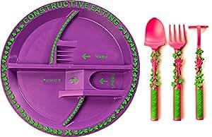Constructive Eating Garden Fairy Plate + Utensil Set GFUTPL
