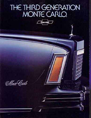 1978 Chevrolet Monte Carlo Sales Brochure Literature Book Options Specification