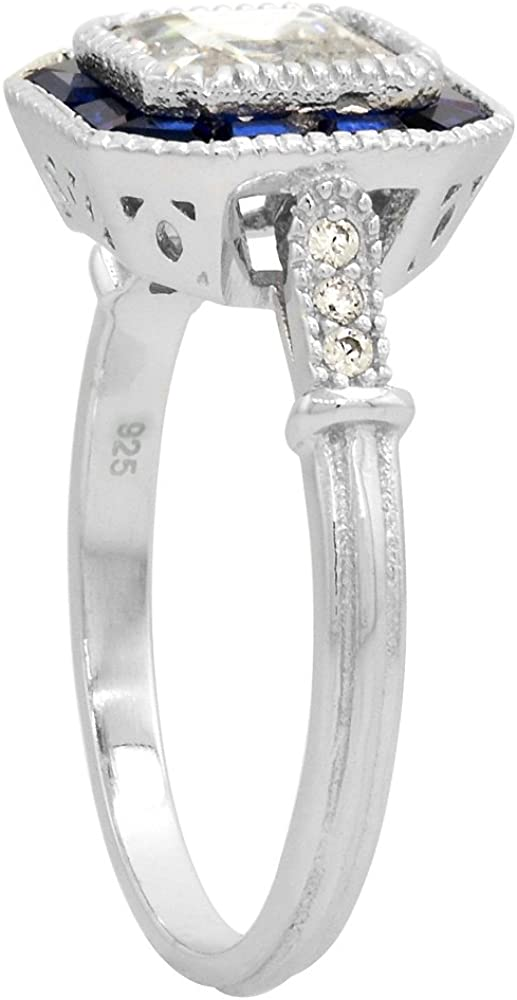 Details about  /2.5 ct Brilliant Asscher Ring Top Russian Quality CZ Sterling Silver Size10