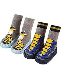 BW Non-Skid Winter Slipper Socks For Baby boy Girl Infant Toddler 0-36 months