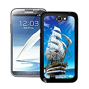 AES - Blazing Colour Sailing Boat 3D Effect Hard Case for Samsung Galaxy Note II N7100