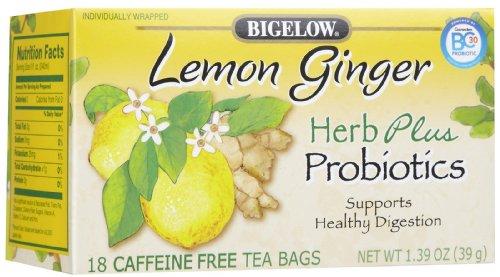 Bigelow Herb Plus Lemon Ginger Tea Bags, 18 ct, 3 pk