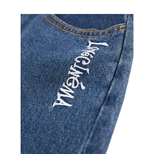 Moiti Blue Jupe Femmes De Jean 2018 Jeans lev La Est Nouvelles en Irrgulire La Jupe La wPq56fI