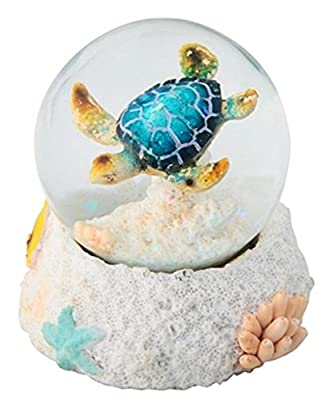"""StealStreet SS-G-28063 3.25"""" Blue Sea Turtle Water Snow Globe Collectible Figurine"""