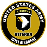1 Pc Transcendental Fashionable US Army Veteran 101st Airborne Sticker Sign Bumper Home Outdoor Size 8