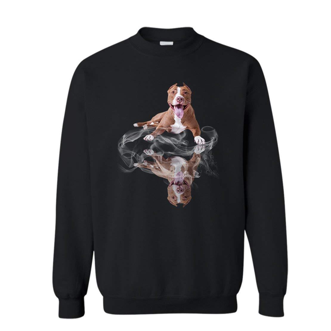 Pitbull Lover Pitbull Color Tshirt Crewneck Design 1875