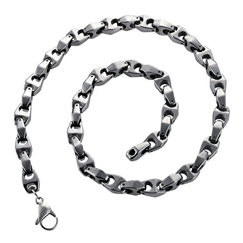 Beydodo Chain Necklace for Men 19.67 inch 10mm Width Silver Stainless Steel Link Chain Hip Hop Jewelry by Beydodo