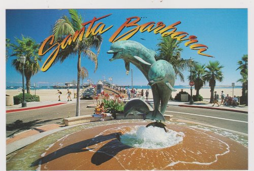SBPC969-09g FRIENDSHIP FOUNTAIN a family of dolphins - POSTCARD .. from Hibiscus Express
