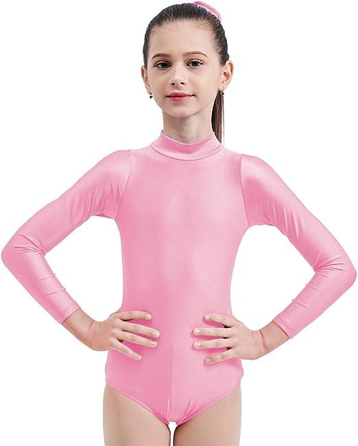 Kids Girls Ballet Dance Dress Long Sleeves Leotard Gymnastics Bodysuit Dancewear