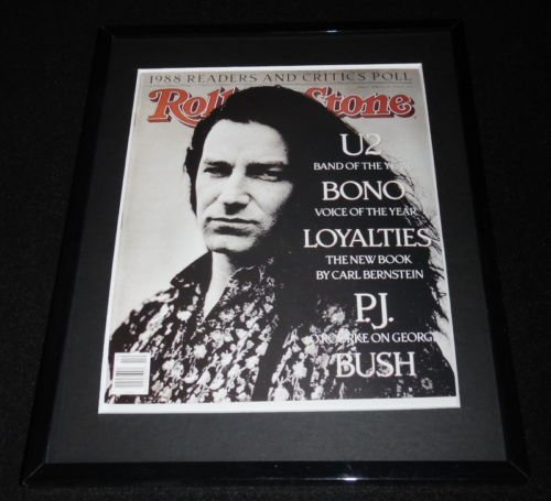 Rolling Stone Cover - Bono U2 Framed March 9 1989 Rolling Stone Cover Display