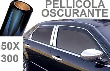 0,5 x 3 m Colore: Nero Pellicola Oscurante per finestrini Auto Fantacy123