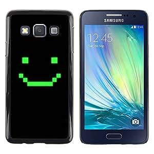 Slim Design Hard PC/Aluminum Shell Case Cover for Samsung Galaxy A3 SM-A300 Computer Game Art Smiley Emoticon / JUSTGO PHONE PROTECTOR