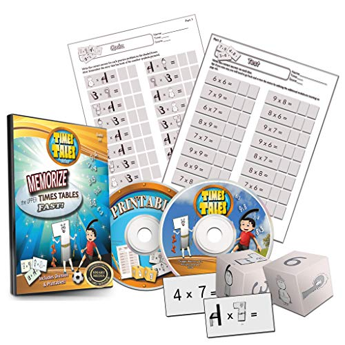 Times Tales Video DVD - Memorize Upper Times Tables / Multiplication Facts Fast!