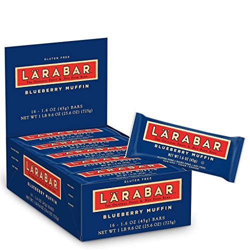 Larabar Gluten Free Bar, Blueberry Muffin, 1.6 oz Bars (16 Count) - Free Blueberry Muffin