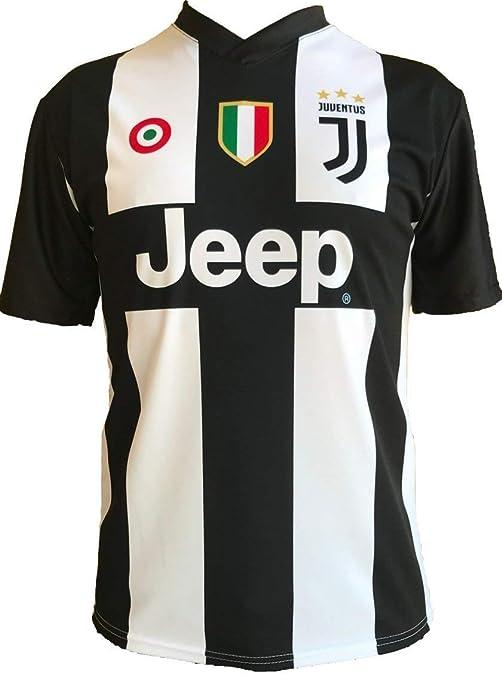 uk availability 6b2ac e79e1 Amazon.com : Official Juventus Home Shirt with Ronaldo Name ...