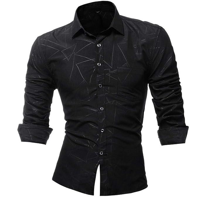 Amazon.com: WM & MW - Camisa de vestir para hombre, casual ...