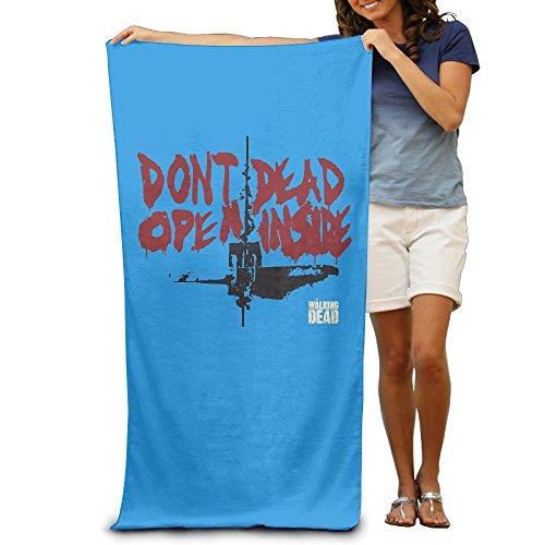 Cotton Large Size Walking Dead Dont Dead Open Inside Logo Beach Towel 31.5