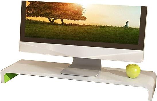 JRPQ Blanco Verde Organizador de Escritorio para pantalla de 15-27 pulgadas Elevador del Monitor para pantalla/computadora portátil/impresora de TV/fax/computadora Computadora/A: Amazon.es: Bricolaje y herramientas