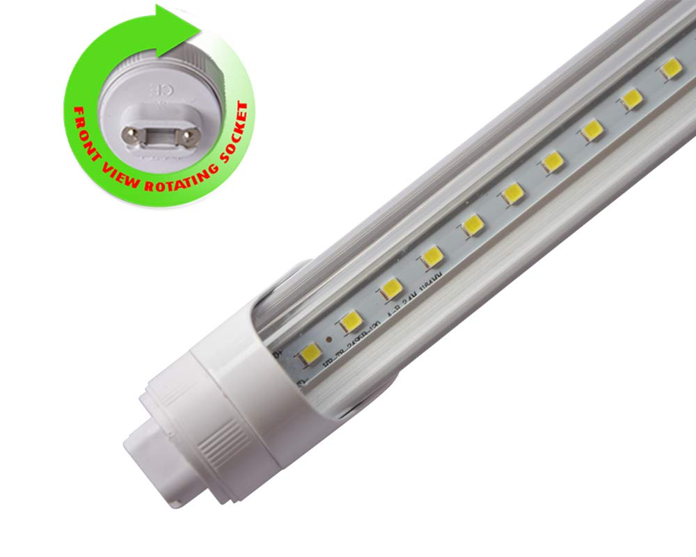 R17D/HO/CW 4 Feet 22 Watt ETL Listed 2850 Lumens 6500K F48T12/T8 Fluorescent Replacement Clear Lens Tube Light for Signs, Cooler, Freezer, Vending Maching (Lot of 10)
