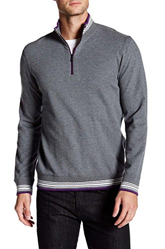 robert-graham-mens-pipeline-reversible-quarter-zip-2xl-charcoal-pullover