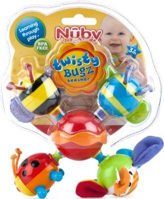 Teether Twisty Bug (Pack Of 12) by Luv N' Care