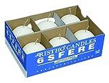 CERERIA di Giorgio risthò Ball, Wax Candles, White, 6x 6x 6cm, 6Units