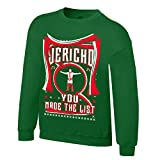 WWE Chris Jericho You Made The List Ugly Holiday Sweatshirt Kelly Green Large