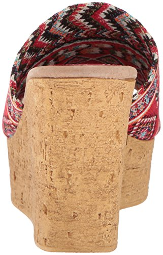 Sandal Multi Red Salice Sbicca Wedge Women's TwXCPxR