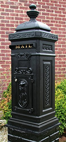 Ecco Victorian Tower Mailbox in Black E8BK, Locking with Keys ()