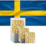 1GB of Mobile Internet data sim card to use in Sweden for 30 Days Rechargeable