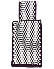 White Lotus AKUPRESSURMATTE-SET MATTE + KISSEN – Deutscher Testsieger - 1. Platz Vergleich.org, Premium-Qualität:einzige Matte/Kissen in Europa gemäß EU-Standards mit Memory-Schaumstoff, Allergie Frei
