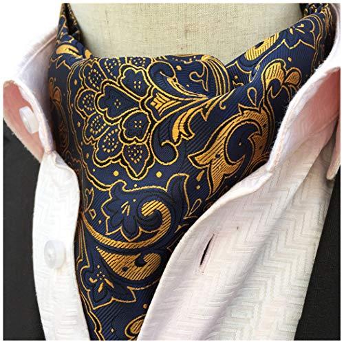 Men's Cravat Self Tie Paisley Jacquard Woven Luxury Ascot Color 2