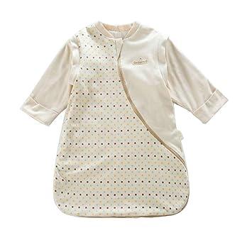 CHENYU - Saco de Dormir para bebé con Mangas extraíbles, algodón y sueño Suave,
