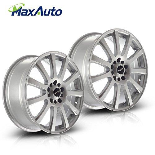 MaxAuto 2 pcs 18X7.5, 5x112 / 5x120, 73.1, 40, Silver Rims Alloy Wheels Compatible with Chevrolet Impala 2014-2017/Chevrolet Malibu 2013 2014/Honda Odyssey 2007-2012 15 16/Chevrolet Equinox 2010-12 16 ()