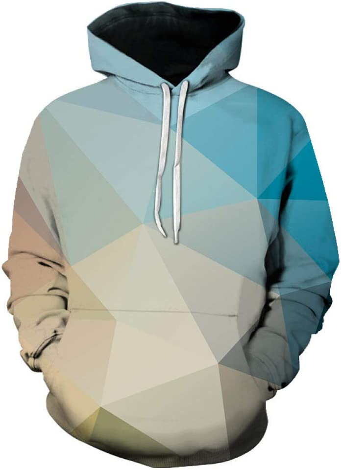 jiuyaomai Sweatshirt Colorful printed loose hooded sweater lovers sweater LMWYY-068 S