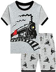 Pijama para niño con diseño de excavadora, dinosaurio, pijamas, 2 piezas, pijama para niños pequeños, 98 104 110 116 122 128 134
