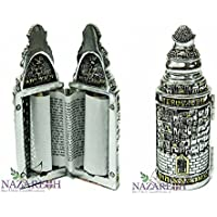 Beautiful Silver Plated Sefer Torah Scroll Chumash Pentateuch Judaica Book Jerusalem Israel